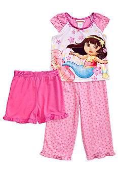 Dora the Explorer Mermaid 3-piece Pajama Set Toddler Girls