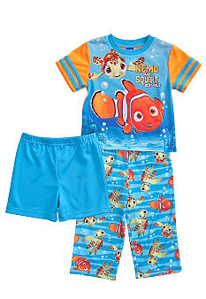 Disney Pixar Nemo and Squirt 3-piece Pajama Set Toddler Boy