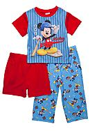 Disney® Mickey Mouse Baseball 3-piece Pajama Set Toddler Boy