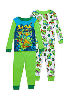 Nickelodeon 4-Piece Teenage Mutant Ninja Turtles Pajama Set Toddler Boys