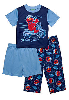 Sesame Street Elmo 3-piece Pajama Set Toddler Boy