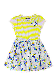 Nannette Stripe To Floral Woven Dress Toddler Girls