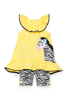 Nannette 2-Piece Zebra Tank Top and Print Short Set Toddler Girls