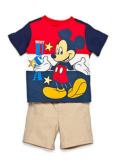 Disney Red Mickey 2 Piece Short Set