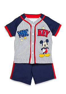 Disney Mickey Baseball Jersey 2-Piece Short Set