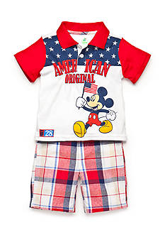Disney Mickey Mouse Original American Short Set Toddler Boys