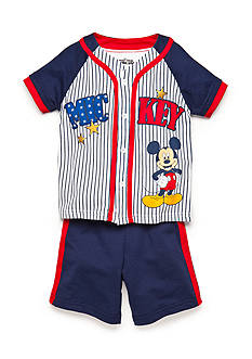 Disney Mickey Mouse Americana Jersey Short Set Toddler Boys