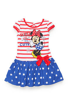Disney 'Red White and Cute' Minnie Mouse Dress Toddler Girls