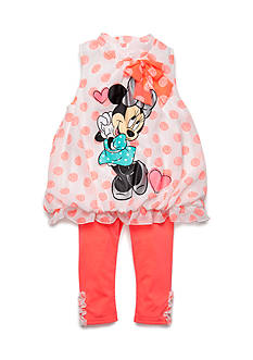Disney 2-Piece Minnie Mouse Dot Tunic and Capri Set Toddler Girls