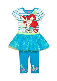 Disney Princess 2-Piece Ariel 'Be Yourself' Tunic and Legging Set Toddler Girls