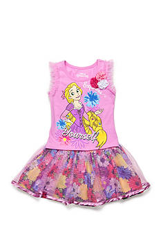 Disney 2-Piece Rapunzel 'Express Yourself' Top and Floral Scooter Set Toddler Girls