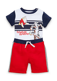 Disney 2-Piece Pooh-and-Friend Bodysuit and Short Set