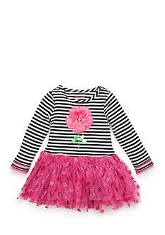 Nannette Flower Glitter Mesh Dress