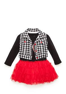 Nannette Red Bows Vest Dress