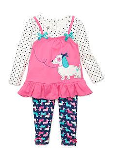 Nannette Puppy 2-Piece Set Toddler Girls