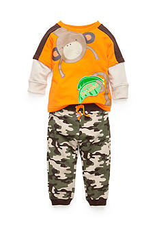 Nannette 2-Piece Monkey Top and Camouflage Pants Baby/Infant Boy