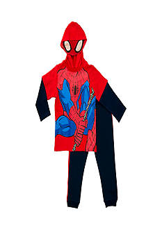 Nannette Toddler Boys Spider-man Face Hoody Fleece Pants Set