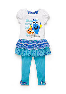 Disney Pixar 2-Piece Finding Dory Tunic and Legging Set Toddler Girls
