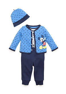 Disney 3-Piece Mickey Mouse Shirt, Pants, and Hat Set