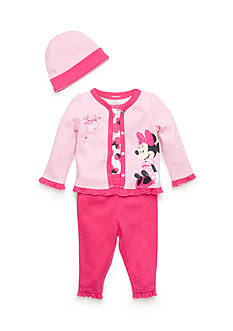 Nannette 4-Piece Minnie Mouse® Cardigan Set Baby/Infant Girl