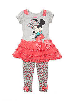 Disney Minnie Mouse Ruffle Tunic and Legging 2-Piece Set Toddler Girls