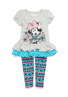Disney 2-Piece Minnie Flower Leggings Set Toddler Girls