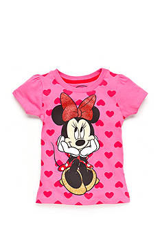 Disney Printed Minnie Mouse Hearts Top Toddler Girls