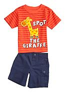Nannette Giraffe Short Set