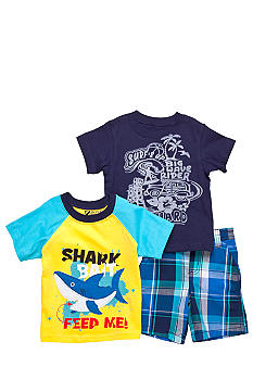 Nannette 3-Piece Shark Feed Me Short Set