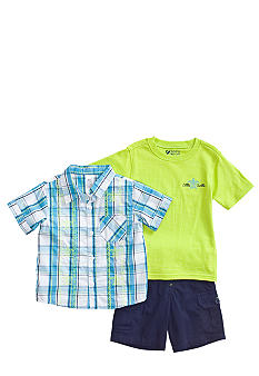 Nannette Turtle Embroidered 3-piece Set Toddler Boy