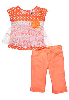 Nannette Lace Dot Capri Set