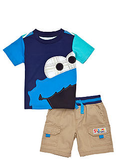 Sesame Street Cookie Monster Short Set