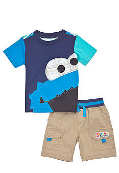 Sesame Street Cookie Monster Short Set Toddler Boys