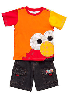 Nannette Elmo Applique Short Set Toddler Boy