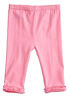 J Khaki Ruffled Ankle Legging Infant Girls