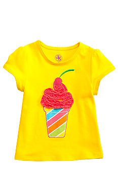 J Khaki Novelty Ruffle Art Tee