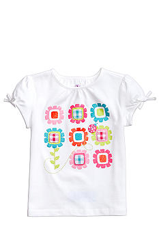 J Khaki Gingham Flower Tee Toddler Girls