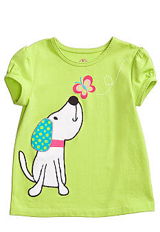 J Khaki Dog Tee Toddler Girls