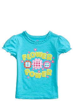 J Khaki Flower Power Tee Toddler Girls