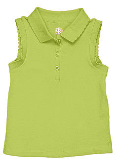 J Khaki Knit sleeveless polo Toddler girls