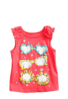 J Khaki Sunglasses Tank Toddler Girls