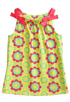 J Khaki Flower Printed Babydoll Toddler Girls