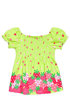 J Khaki Berry Print Babydoll Toddler Girls
