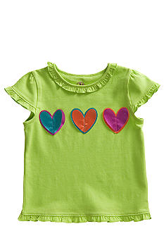 J Khaki 3 Heart Tee Toddler Girls