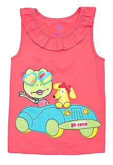 J Khaki Froggie In Car Tank Toddler Girls