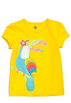 J Khaki Tucan Printed Tee Toddler Girls