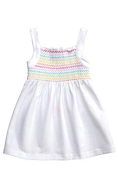 J Khaki Smocked Tank Toddler Girls