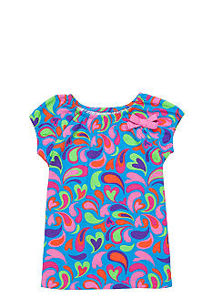 J Khaki Printed Babydoll Top Toddler Girls