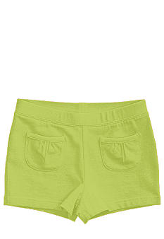 J Khaki Ruffle Pocket Short Toddler Girls