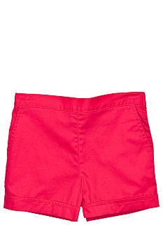 J Khaki Woven Twill Short Toddler Girls